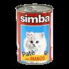 """Консервы Monge """" Simba Cat """" паштет 400г д-кошек говядина"""