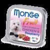 """Консервы """"Monge Dog"""" Fruit 100г д-собак курица с малиной"""