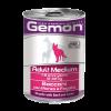 """Консервы Monge """"Gemon Dog"""" Medium 415г кусочки д-cобак средних пород говядины с печенью"""