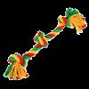 """DogLike Игрушка """"Грейфер канатный 3 узла"""" большой желто зеленый красный д-собак (D-2353)"""