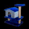 """Зооэкспресс Игровой комплекс """"Изба"""" 2 уровня с полкой мех однотонный 40*60*65см (83101)"""