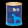 """Консервы """"Брит"""" Premium 850г д-собак с говядиной и рисом"""