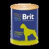 """Консервы """"Брит"""" Premium 850г д-собак с говядиной и сердцем"""