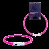 """Ошейник """"Richi"""" декор.30см LED свет/ XS 3 режима  силик .вст. аккум зарядка USB розовый (3506)"""