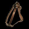 ЗооЭкспресс Шлейка однослойная 14мм до 65см кожа - коричневая д-собак (0830К)