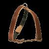 ЗооЭкспресс Шлейка двухслойная 36мм до 100см кожа -коричневая д-собак (0873К)