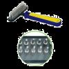 Triol Расческа мелкозуб. сине-желтой ручкой (Рк-00900)