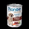 """Консервы """"Monge Dog"""" Fresh 400г д-щенков Мясной рулет телятина-овощи"""
