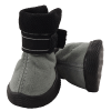 Ботинки Триол №1 серо-черн.замша 1 лена-застежка на липучке  (144YXS)